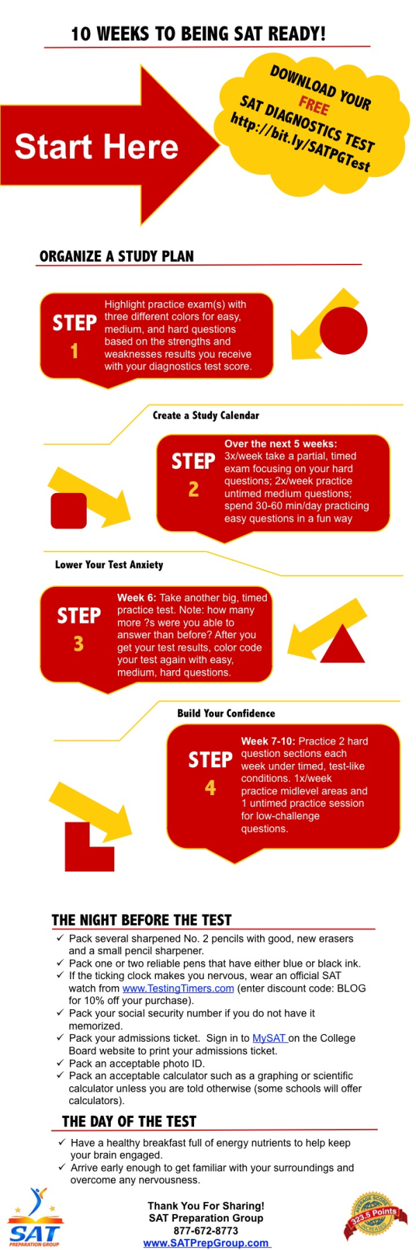 Create Your Own SAT Study Plan With This 10 Week Guide [Infographic]