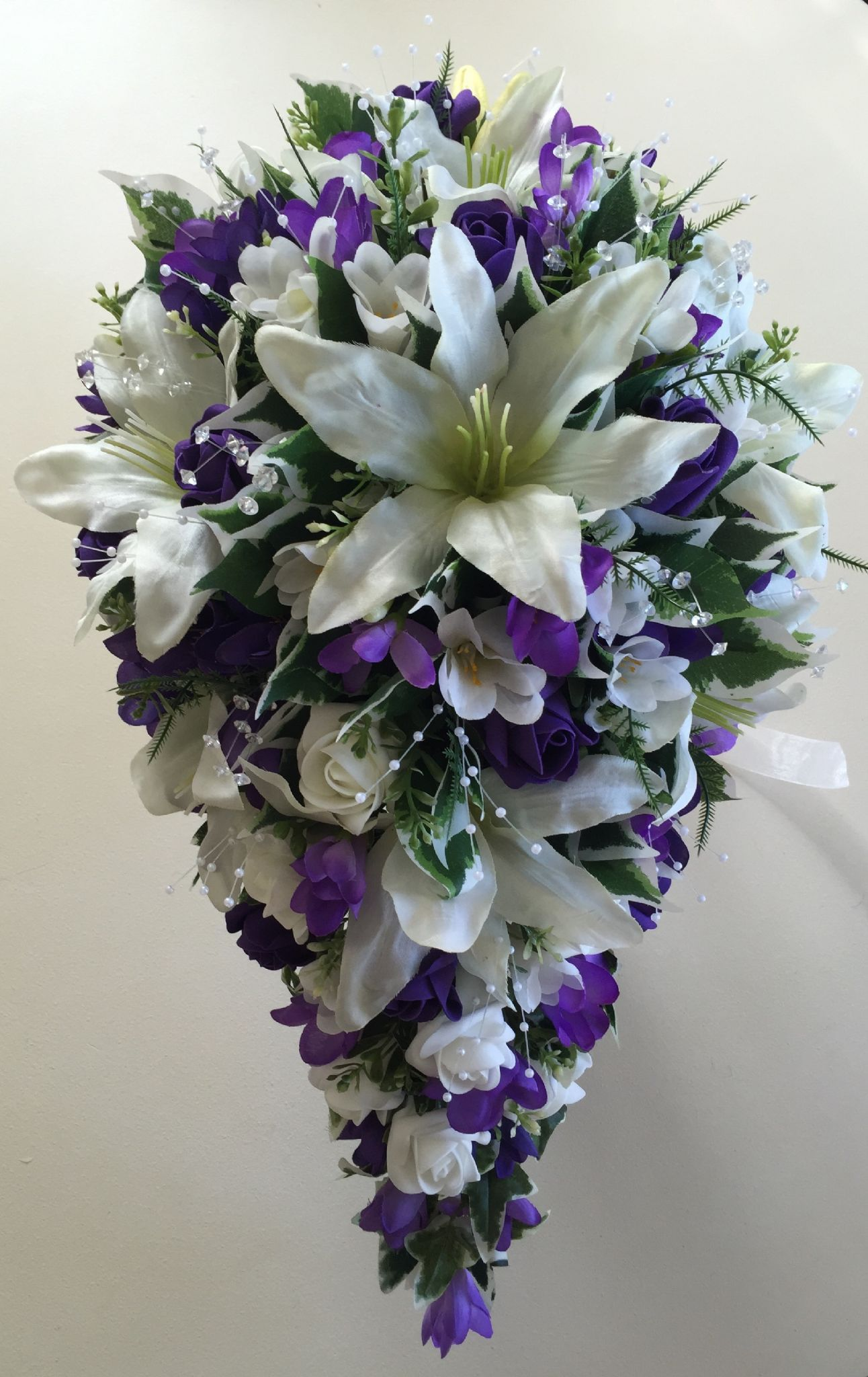 Purple Wedding Flowers Floral Lilacs Bouquets Ivory