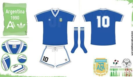 a39cd1b46 Argentina away kit for the 1990 World Cup Finals.