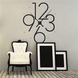Clock Wall Decals - Vinyl Clock Decals & Large Modern Clock | Wall decor | Pinterest | Clocks Modern and ...