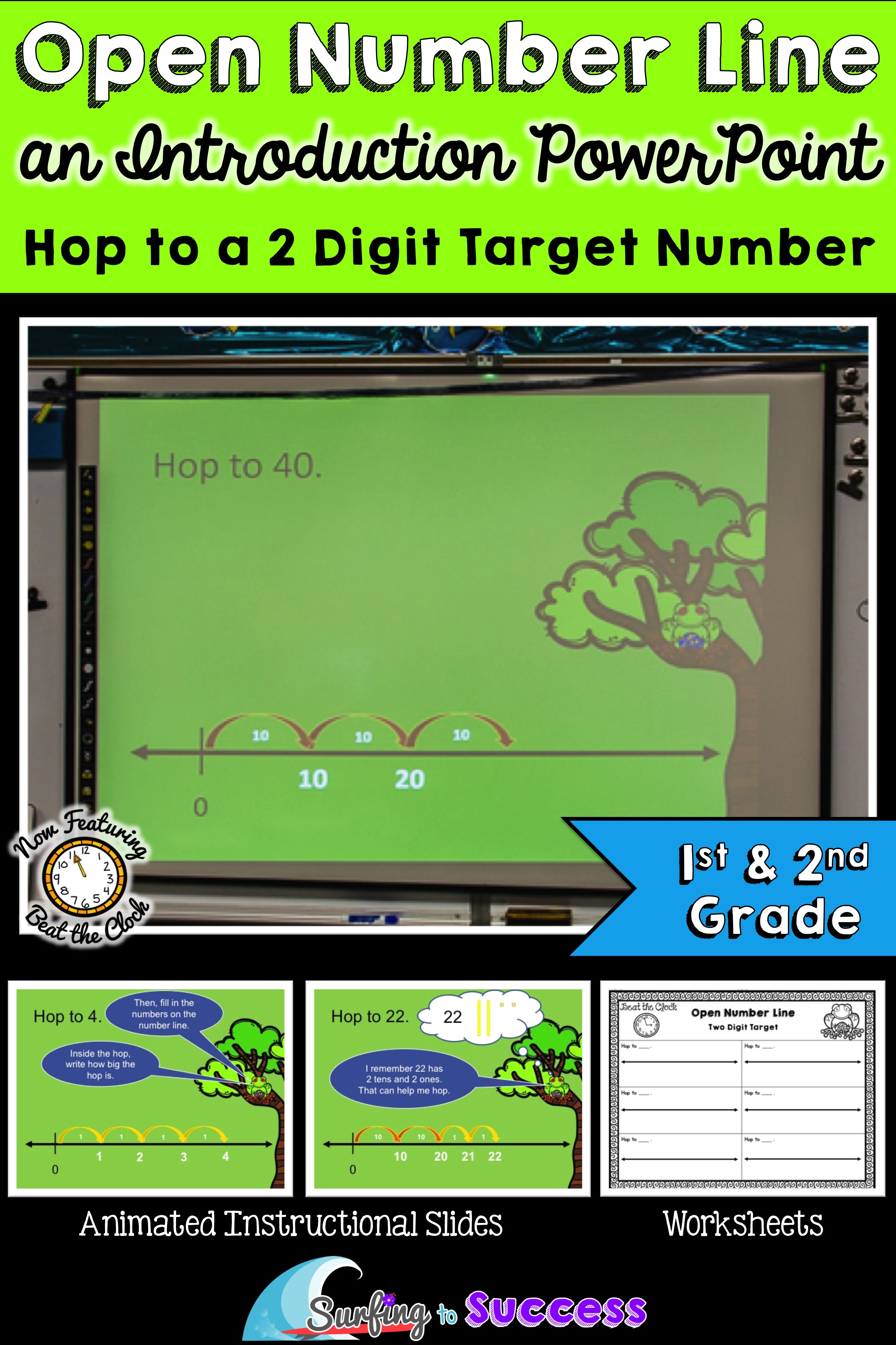 Introduction To Open Number Line Hop To A Target Number