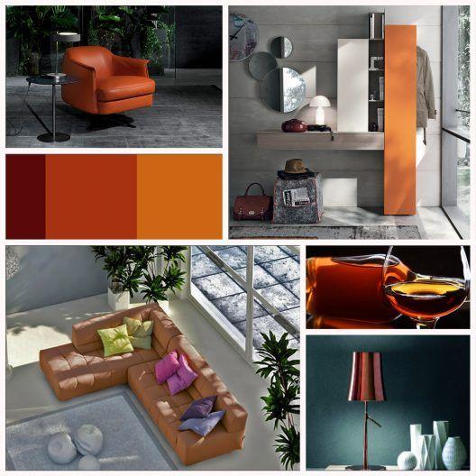 Modern interiors featuring deep orange shades Hints, Tips