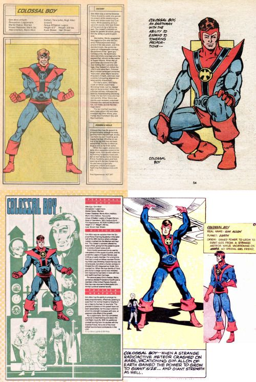 legion of super heroes visual reference colossal boy aka gim allon
