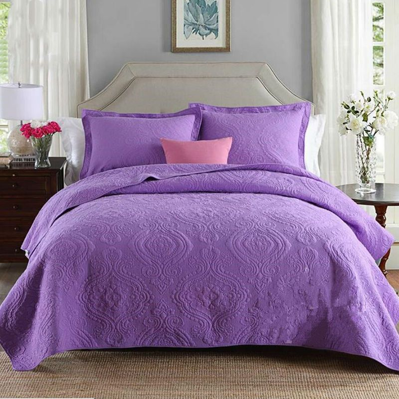 Purple Bedspreads 100% Cotton Bedding Sets Bedspreads King Size ... : purple quilt bedding - Adamdwight.com