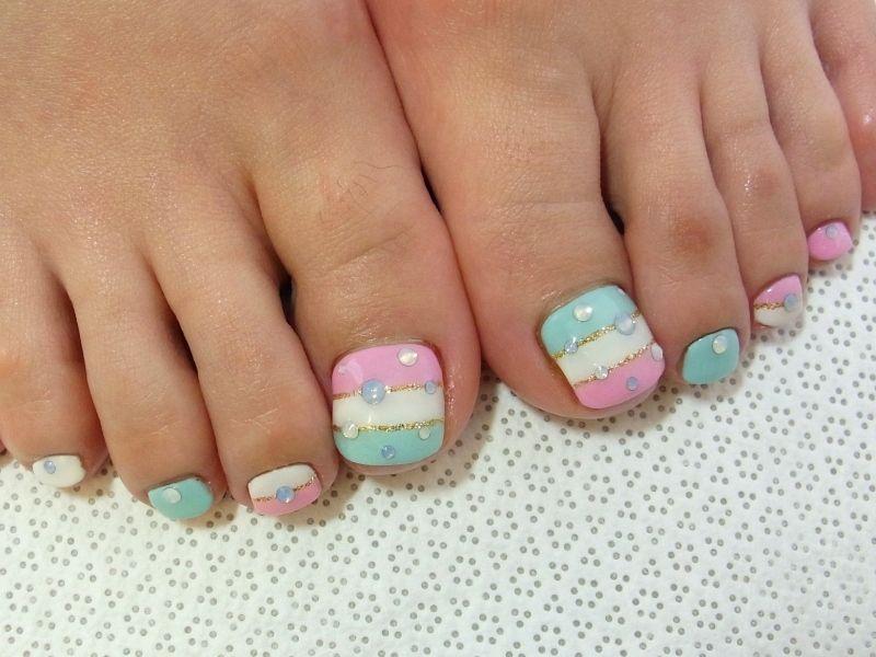 Summer Pedicure Ideas Stylish Pedicure Nail Art Designs For Summer