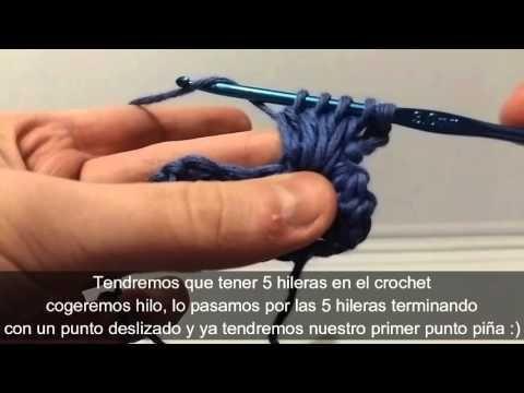 Crochet paso a paso: ¡punto piña! | Puntos, Conocimiento y Tejido