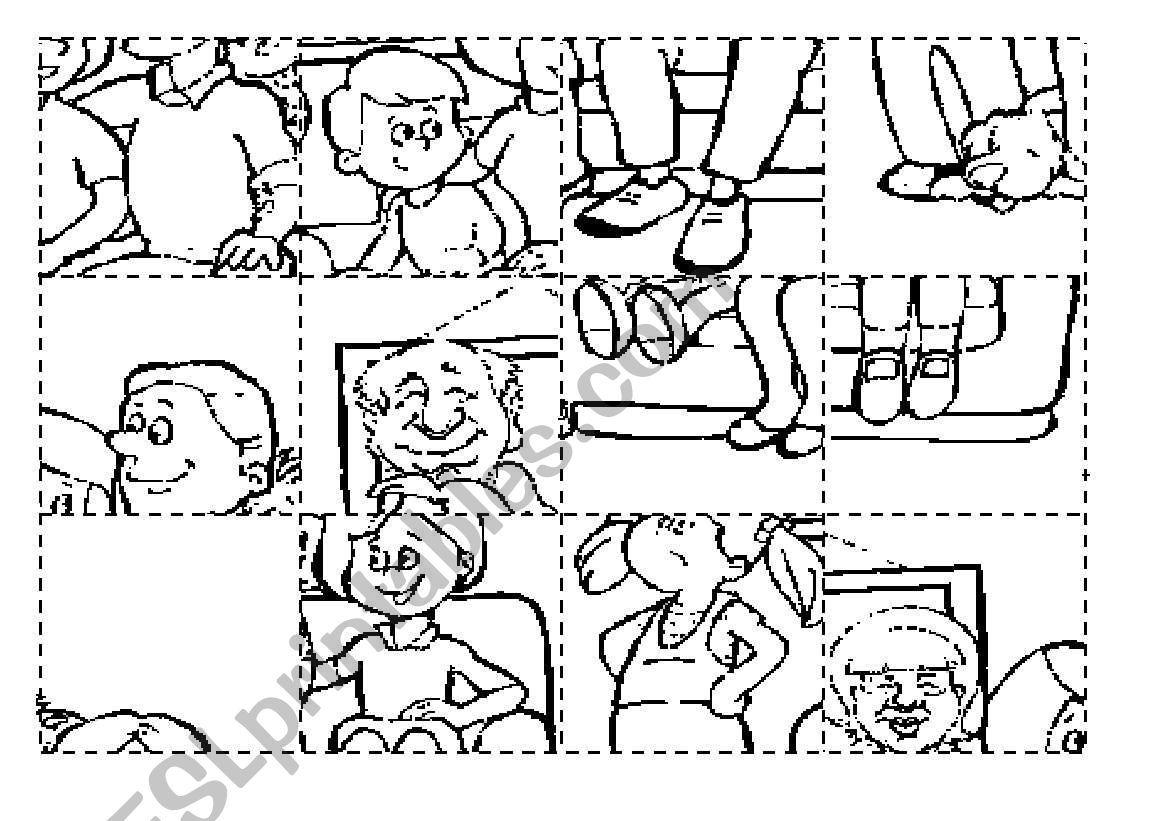 Family Puzzle Worksheet
