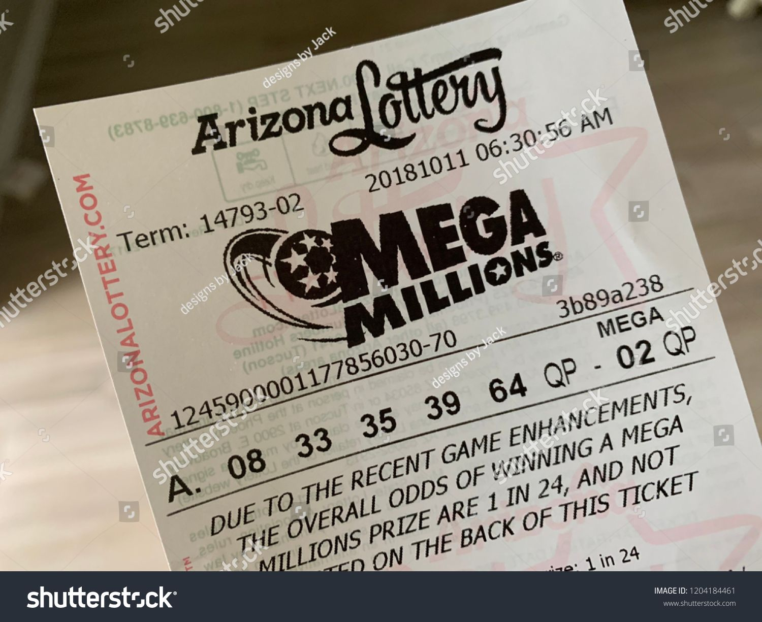 Phoenix, Arizona, October 11, 2018: Mega Millions Lottery