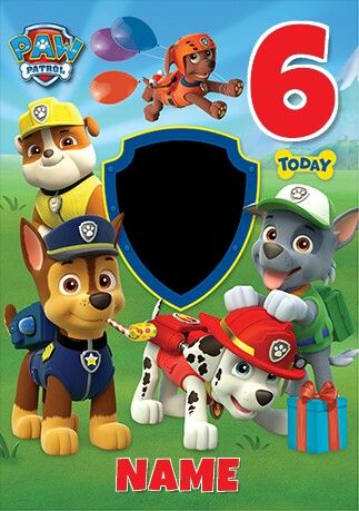 Pin by lady on lady pinterest paw patrol party construction a personalised birthday card from the paw patrol range by danilo filmwisefo Gallery