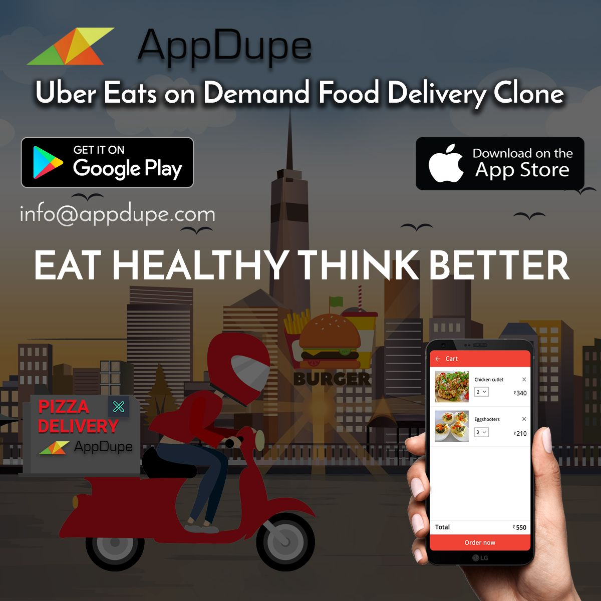 Develop your own company like u ber eats | appdupe reviews