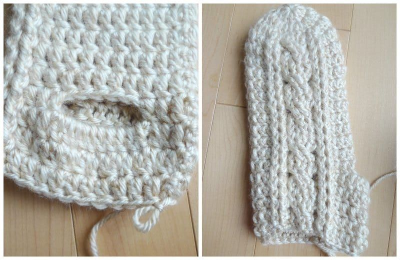 Crochet Cabled Mittens All About Ami Crochet Crochet Cable Crochet Patterns