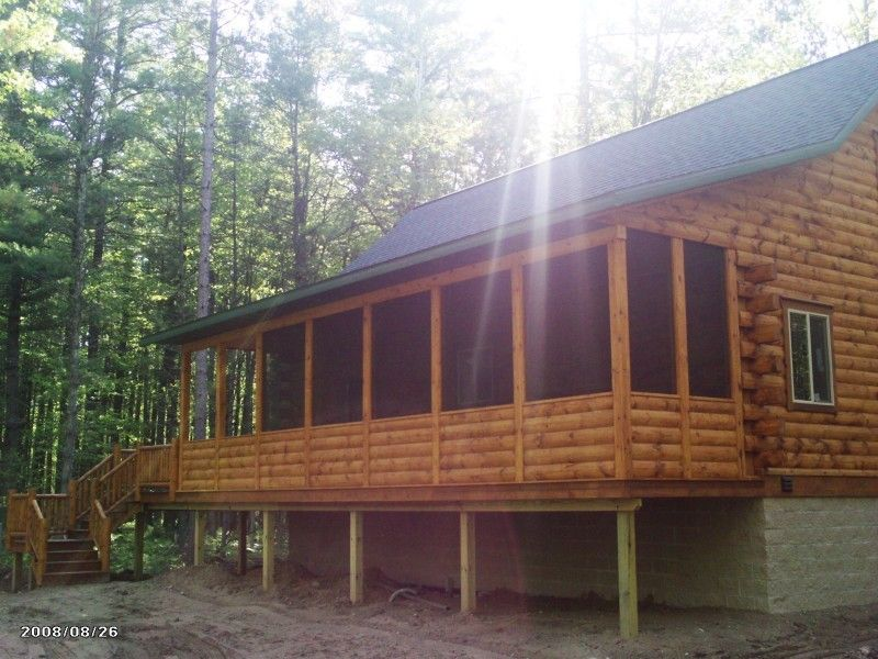 Log Home Screened In Porch Ideas Shawn Oberleitner