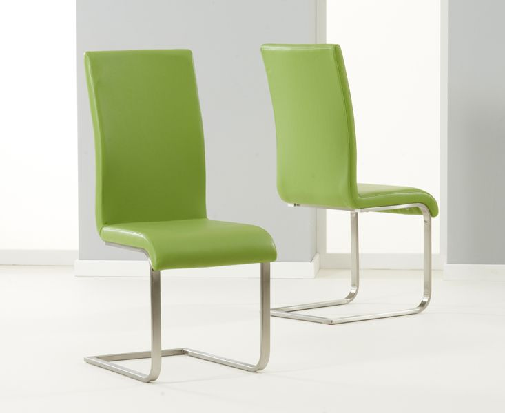 2X Malaga Green Dining Chairs  Fantastic Furniture  Pinterest Amusing Green Leather Dining Room Chairs Design Decoration