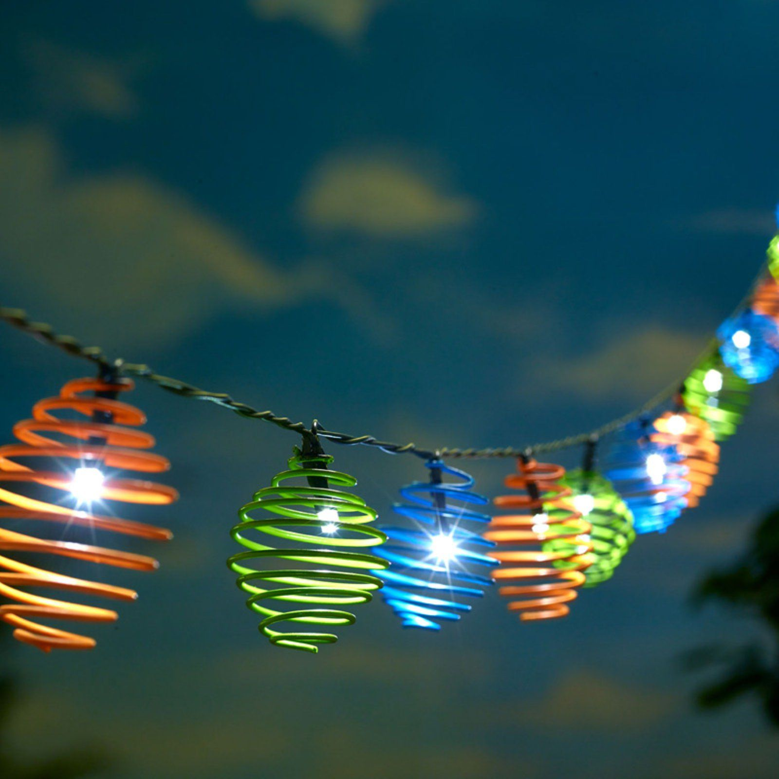 Smart Solar Curvet String Light Multicolor