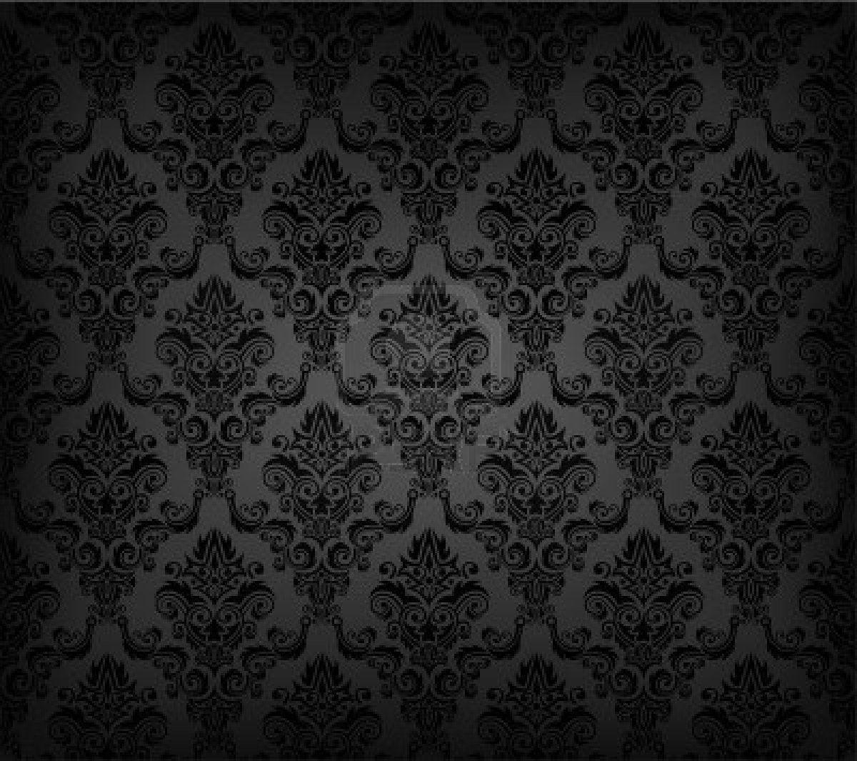 Black wallpaper such a glam look home decor inspo for Black home wallpaper