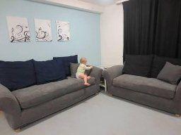 Sure Fit Stretch Metro 2 Piece Sofa Slipcover Gray