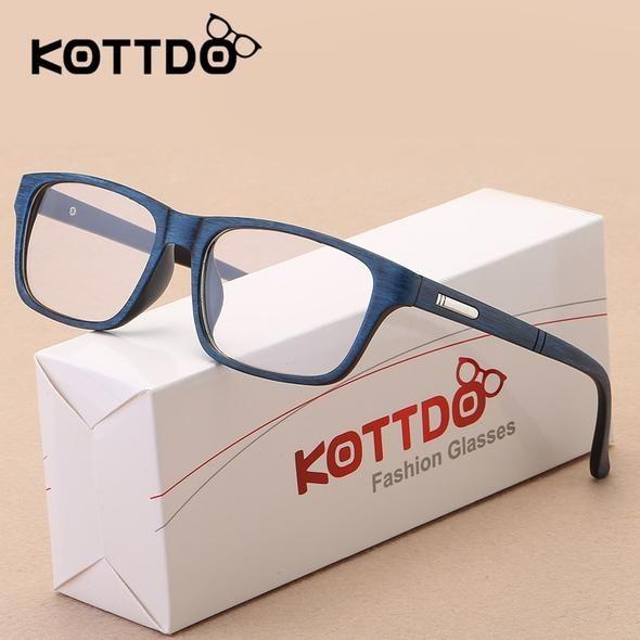 eacdb727f02 KOTTDO 2017 Fashion Retro Eyeglasses Frame Men Women Vintage Optical  Spectacle Glasses Frame Clear Lens Goggle