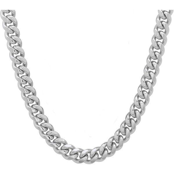 Cuban Chain Platinum: Platifina Platinum Over Silver 22-inch Cuban Link Chain