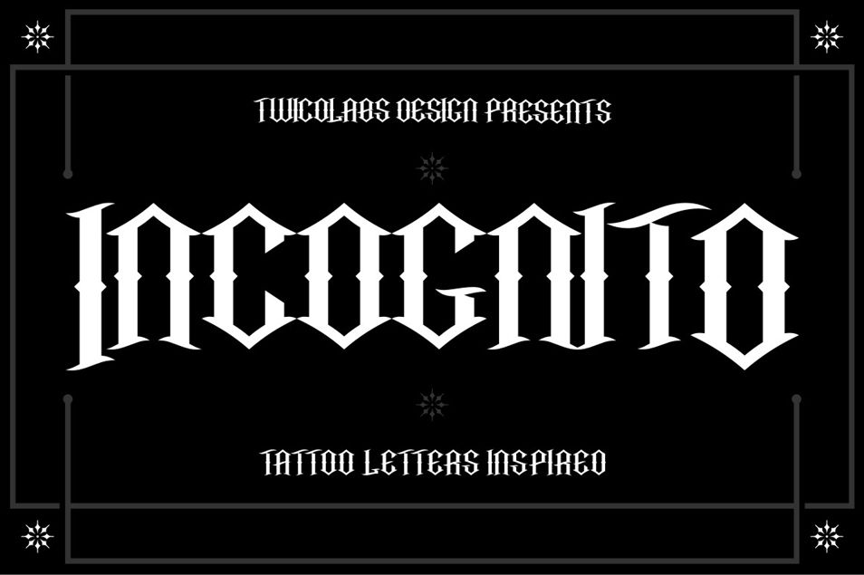 Incognito Free Font With Images Font Bundles Free Tattoo Fonts Letterpress Font