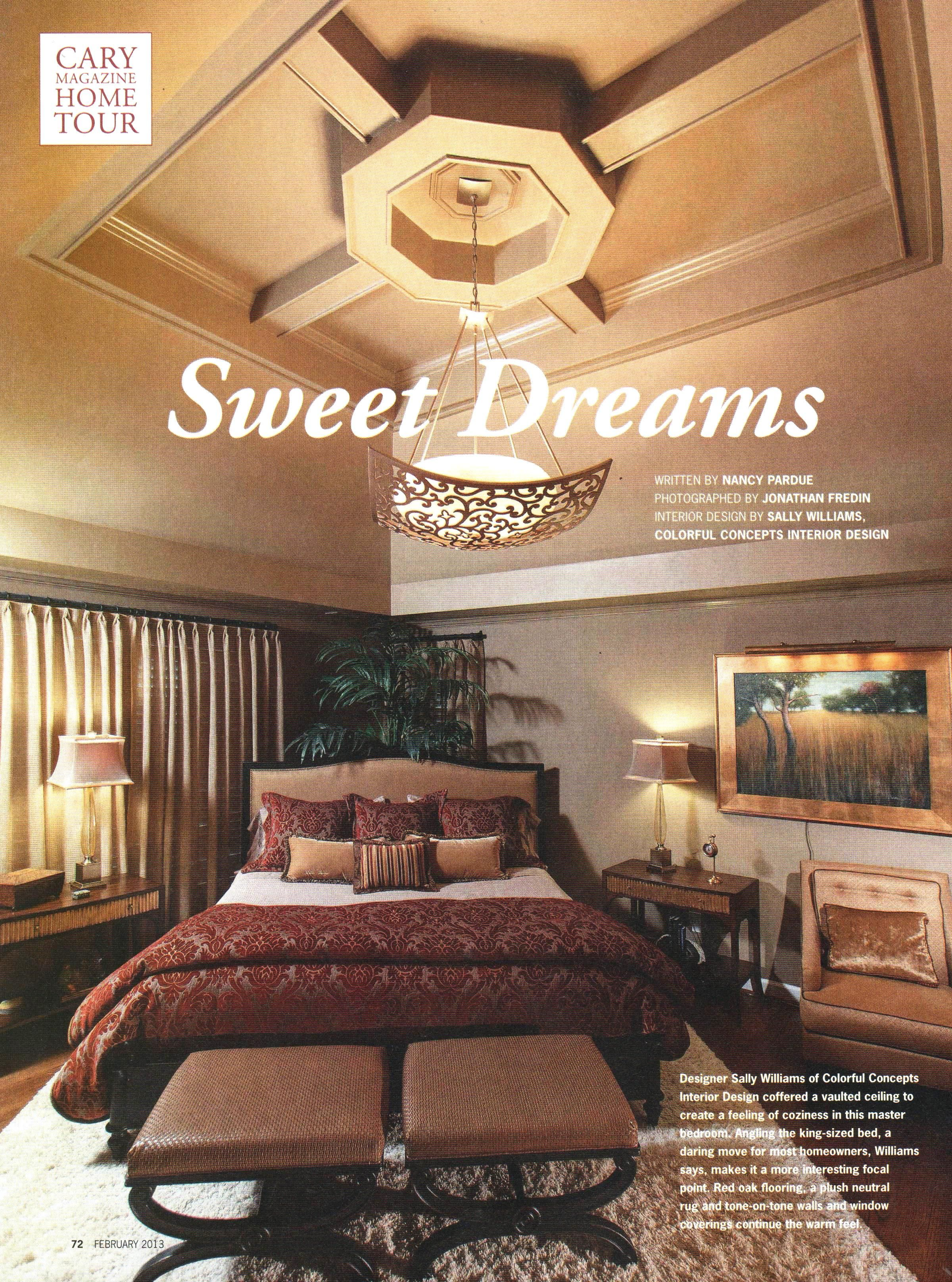 Sweet Dreams Cary Magazine February 2013 Featuring A Stunning