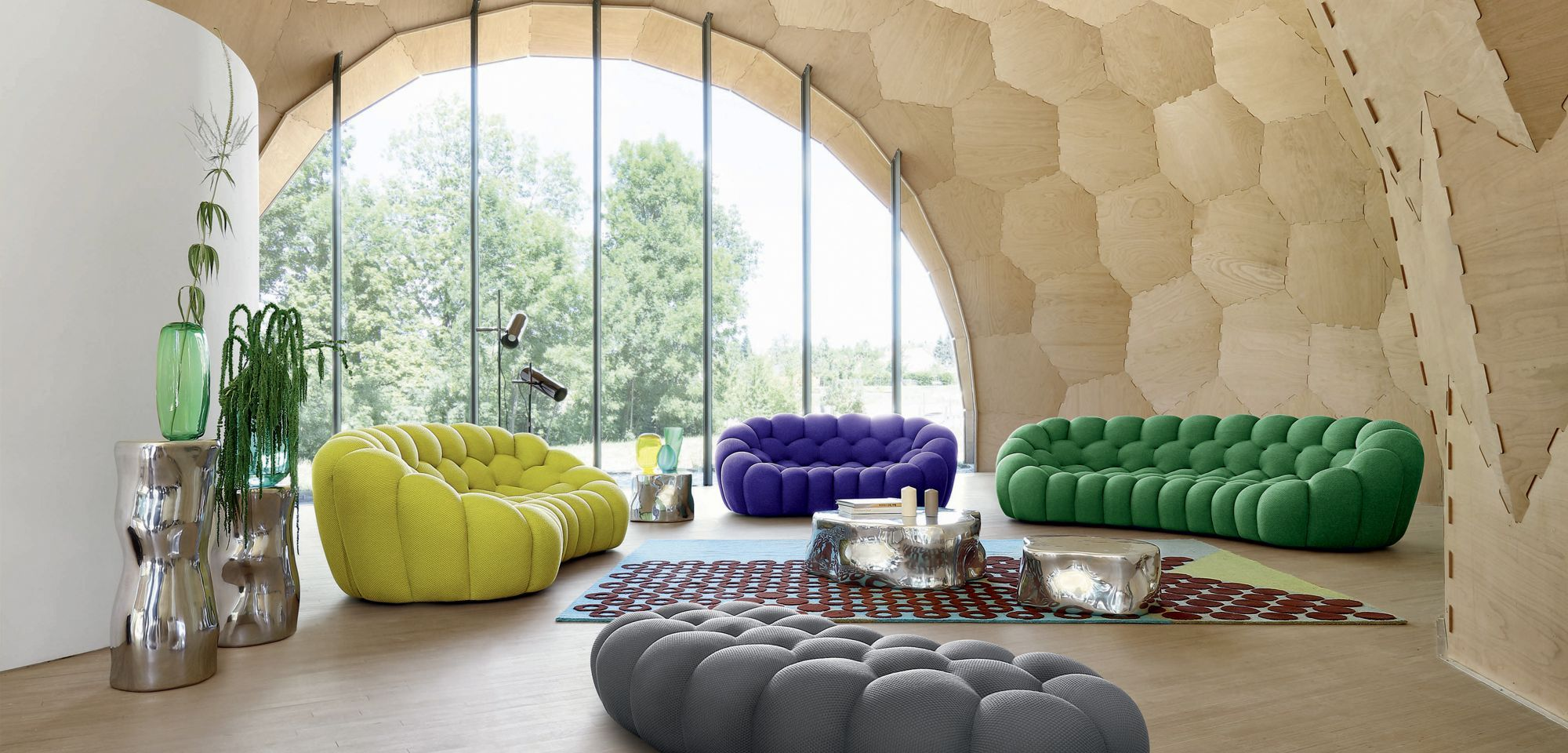 BUBBLE 2 CURVED 3 4 SEAT SOFA Chairs & Seating Pinterest
