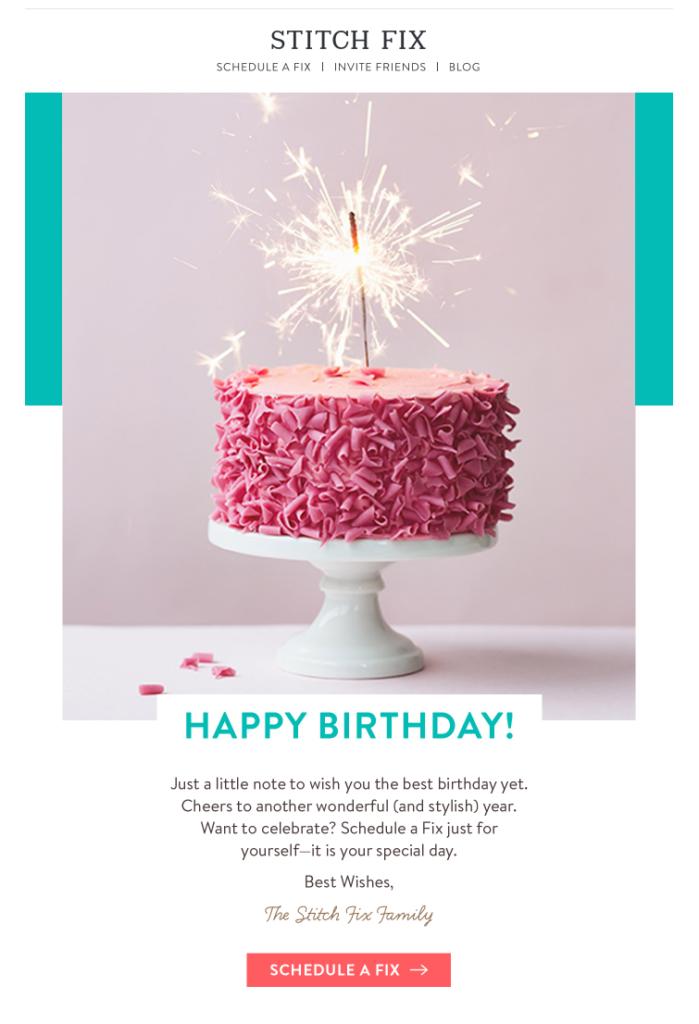 birthday email best practices tips tricks birthday. Black Bedroom Furniture Sets. Home Design Ideas