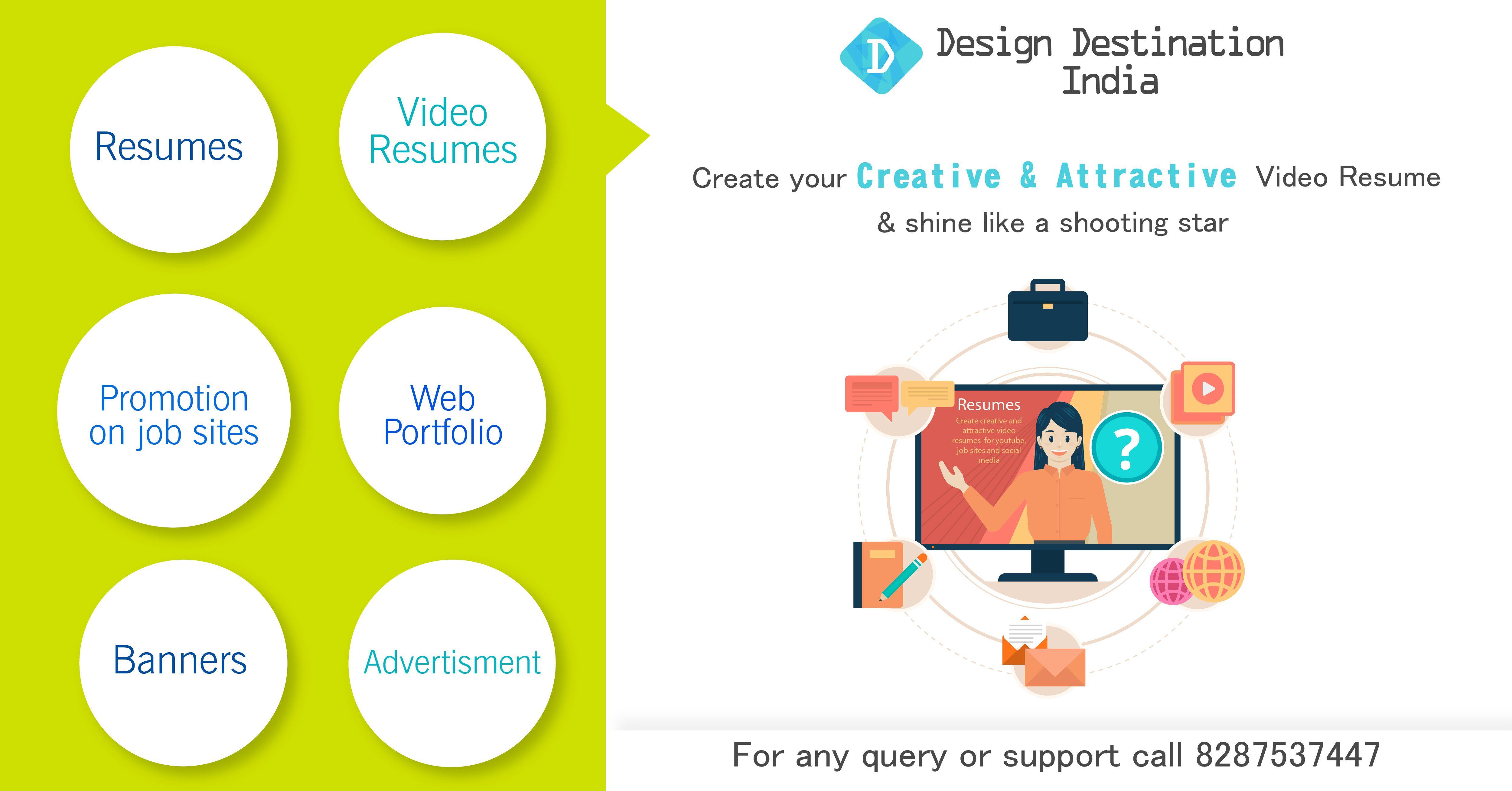 Design Destination India Create your video resume or web