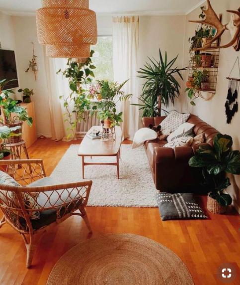 Trendy color Adopt khaki green! Living room decor