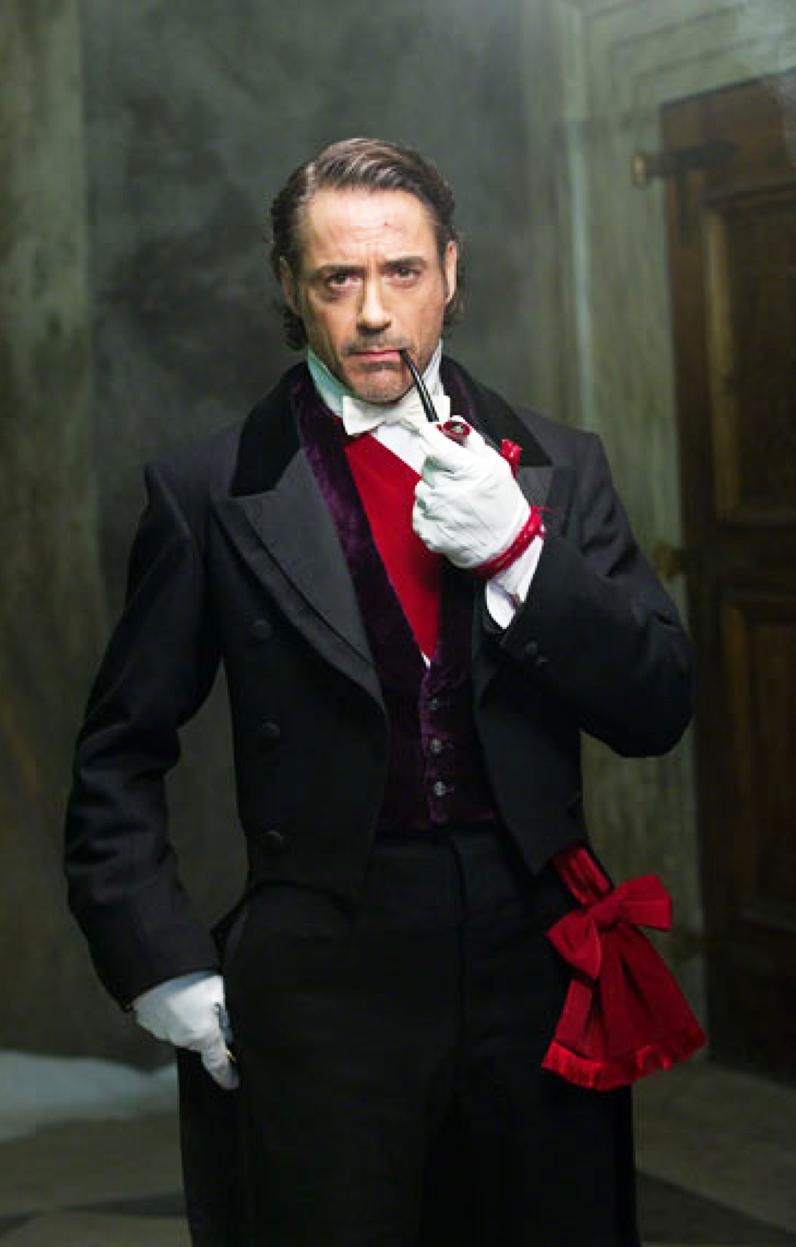 "Robert Downey Jr. as Holmes in ""Sherlock Holmes: A Game of Shadows"""