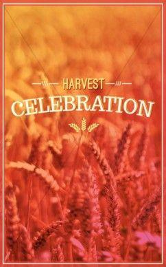 harvest celebration church program cover fall harvest bulletin
