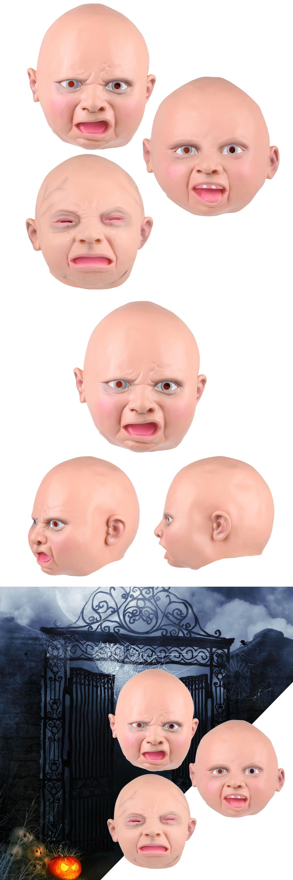 Visit to Buy] 3 Patterns Latex Disgusted Happy Cry Baby Full Head ...