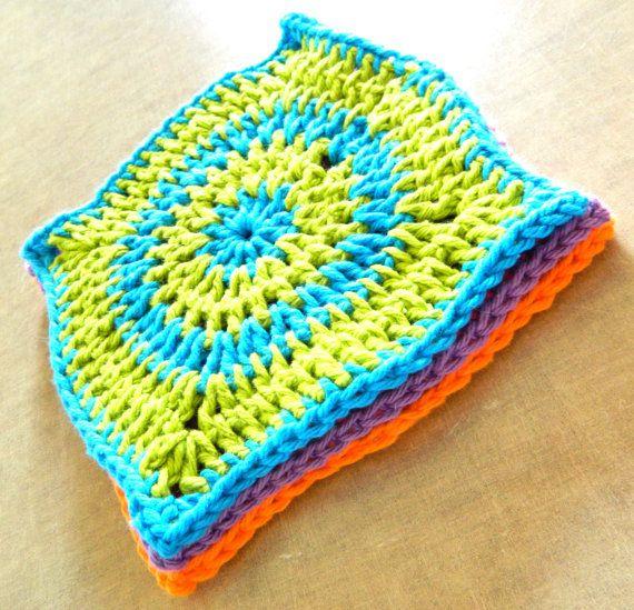 crochet dishcloth pattern - patron lavette au crochet   Crochet Idea ...