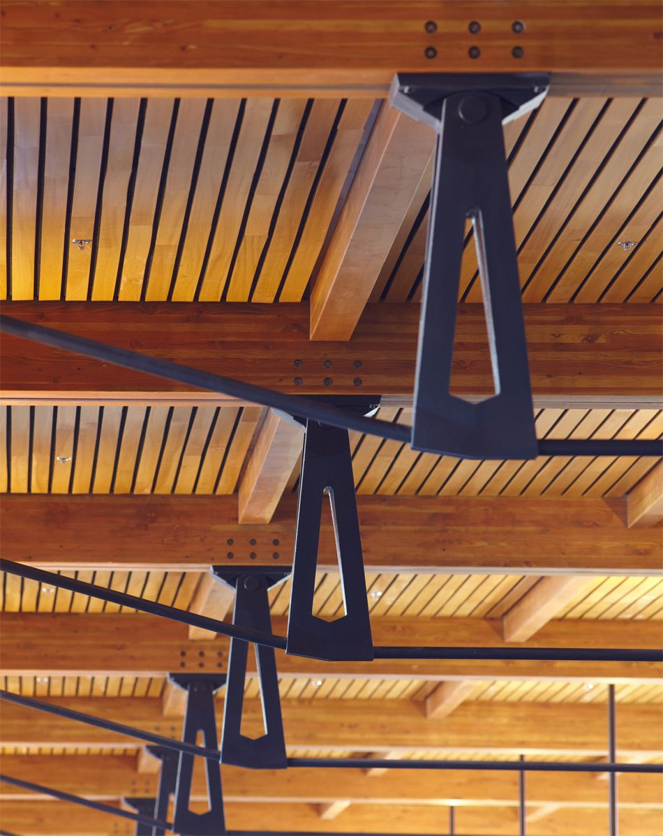 Wood And Steel Structure : Gensler structures jackson hole airport with wood trusses
