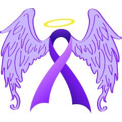 Angel Wings Purple Ribbon Purple Butterfly Tattoo Purple Ribbon Tattoos Purple Ribbon