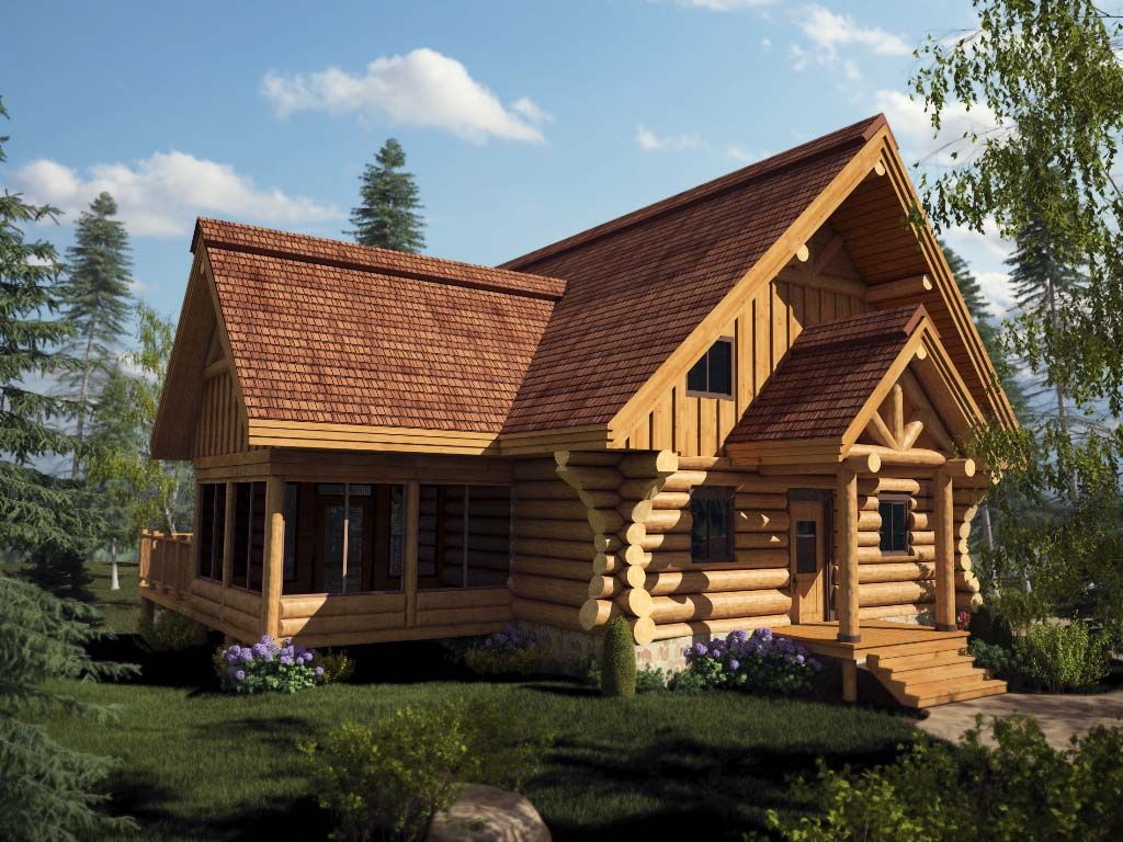 maison en bois rond kit