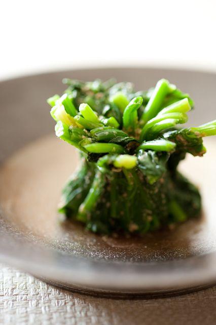 Japanese Food Horenso Goma-ae, Sesame Spinach Salad
