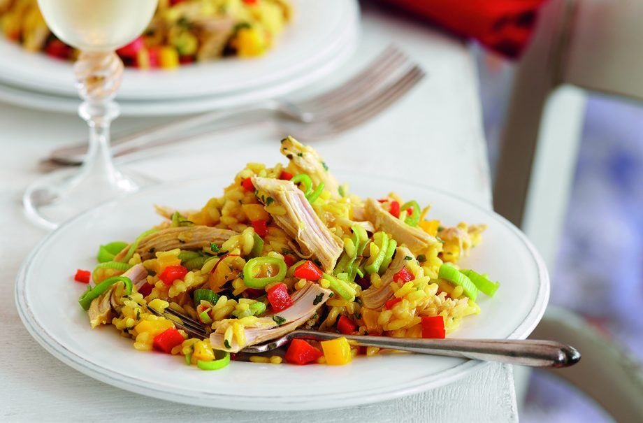 Slimming World's turkey risotto | Recipe | Risotto dinner ...