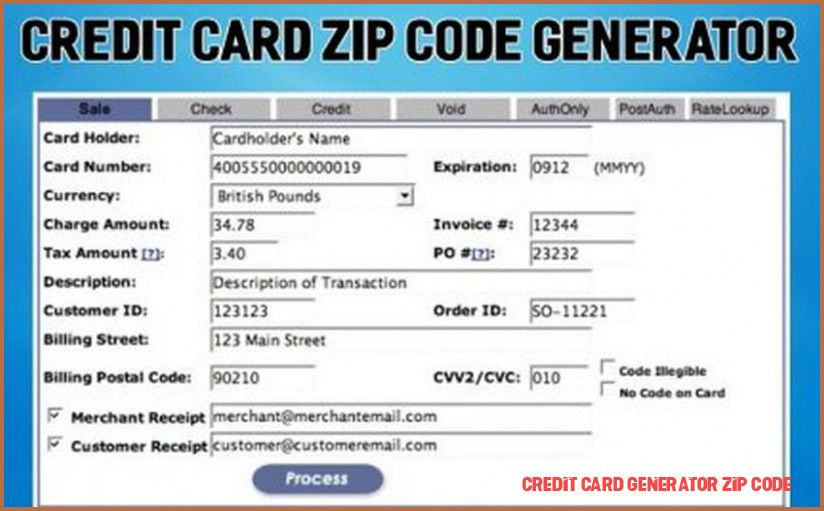 Credit Card Generator With Zip Code How Does It Work Access Credit Card Generator Zip Code Credit Card Free Credit Card Visa Card