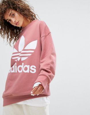 adidas rose print hoodie