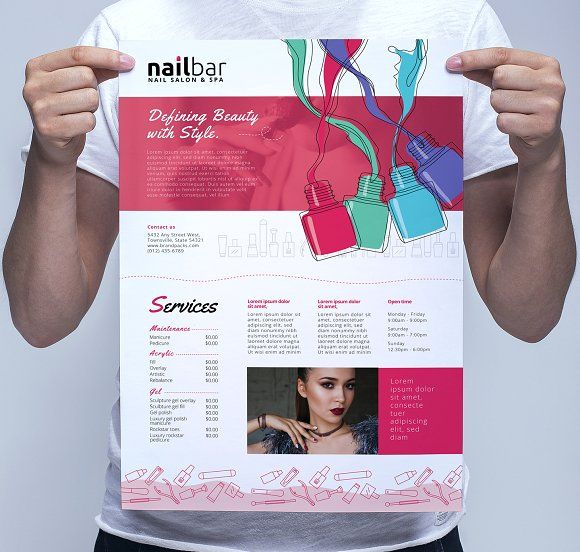 A Nail Bar Poster Template  Template Flyer Template And Print
