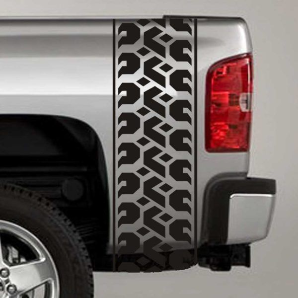 Tire Tread Tuck Bed Stripe Decals Truck Bed Decals Pinterest - Truck bed decals custom