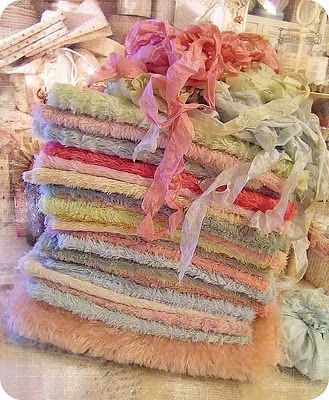 fabrics and ribbons for beautiful creations