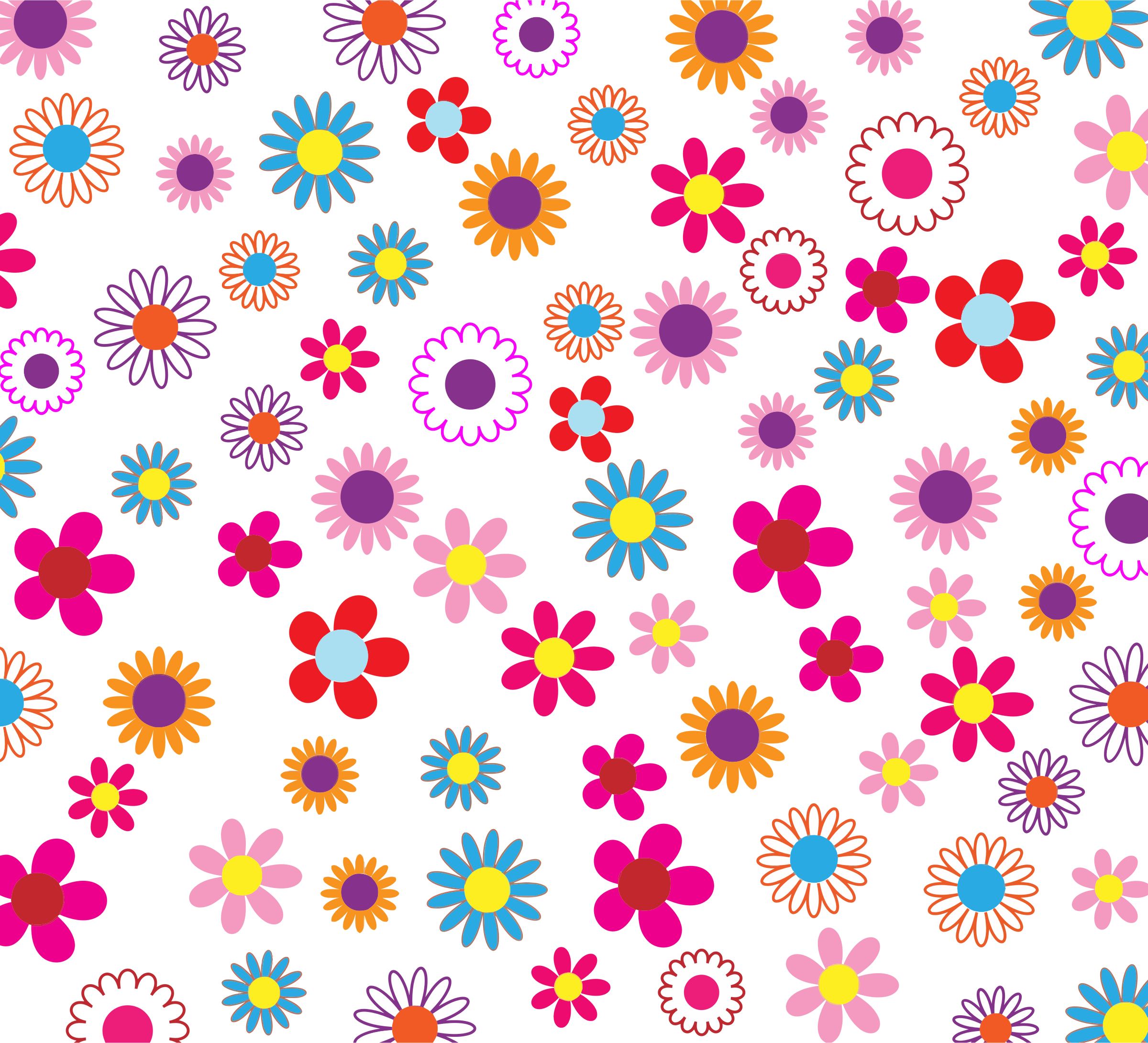 Colorful Floral Pattern Background Flower pattern mirror