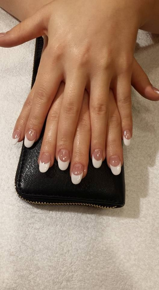 SNS full set done by our nail tech Melissa! A nail tip added for length with an overlay and a ...