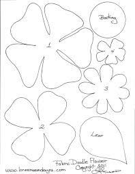 Image result for free paper flowers templates #feltflowertemplate Image result for free paper flowers templates #feltflowertemplate
