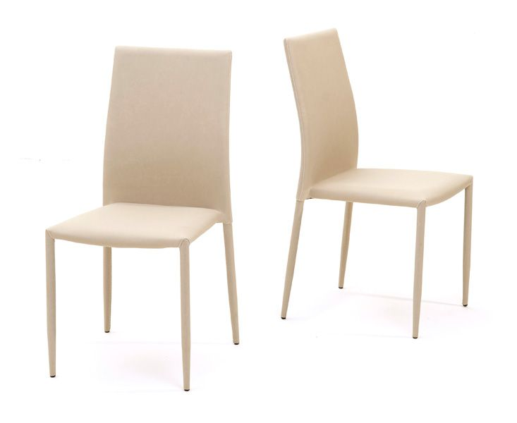 atlanta beige stackable dining chairs fantastic furniture