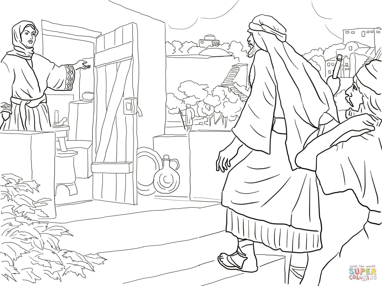 New Room Built For Elisha Coloring Page Free Printable Coloring