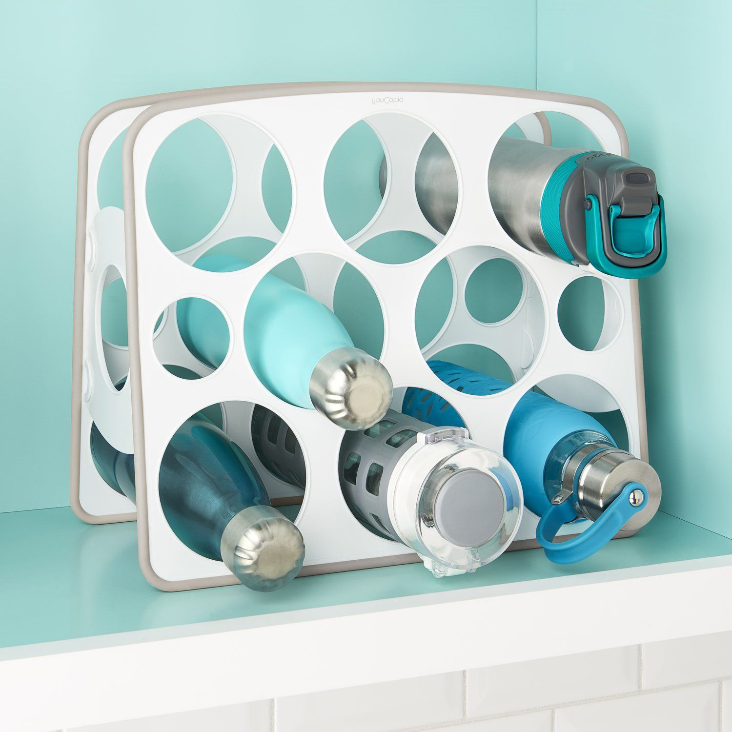BottleStand Travel Mug and Water Bottle Organizer Water