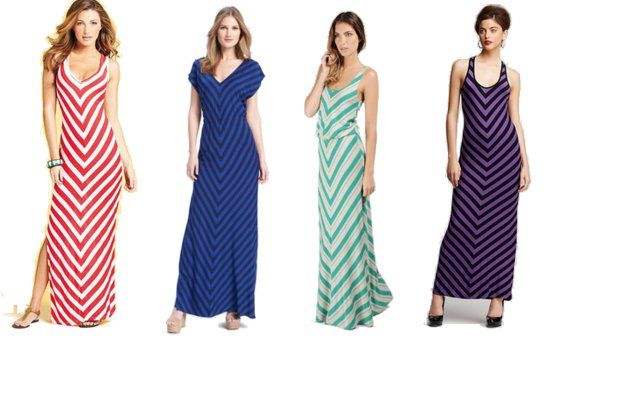 Spring Must-have: Chevron Striped Maxi Dress