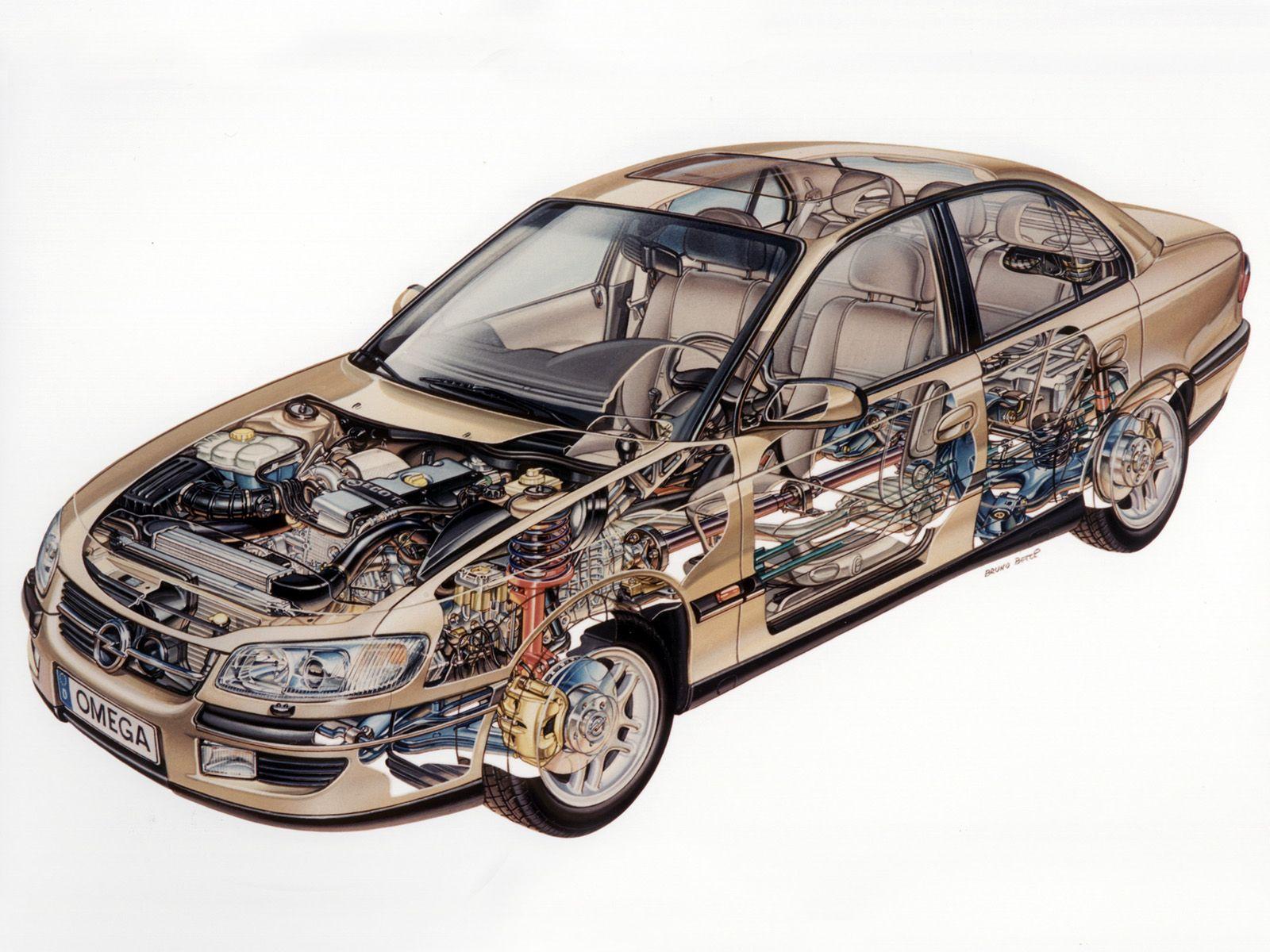 b79e3553f5e 1994-1999 Opel Omega (B) - Illustration by Bruno Betti
